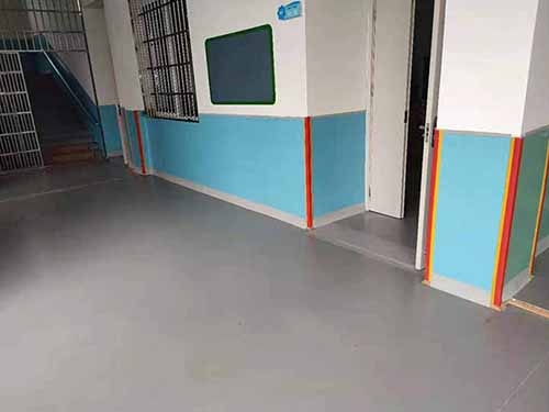 富顺县童寺芝溪幼儿园PVC地板铺装