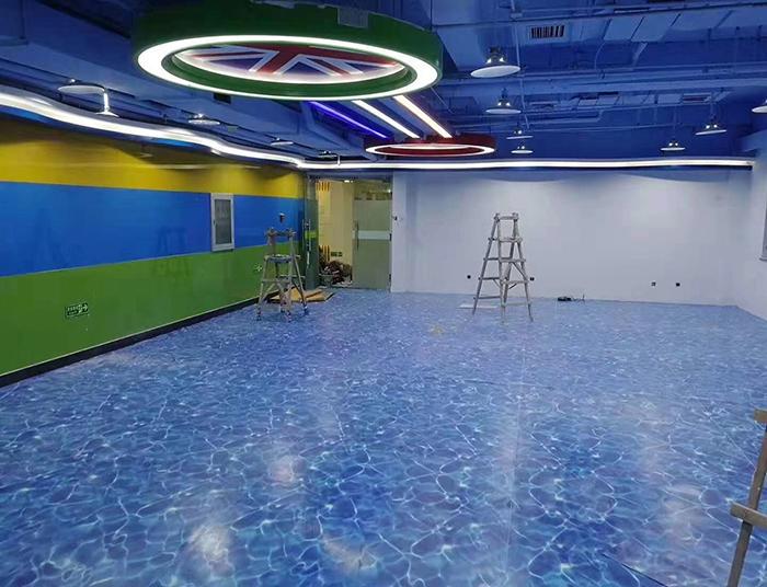商场定制地板胶