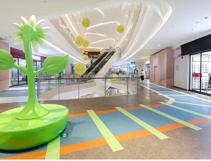 商场pvc石塑地板