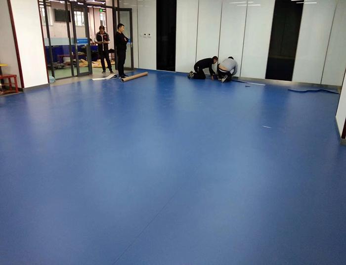 办公室蓝色清爽地板