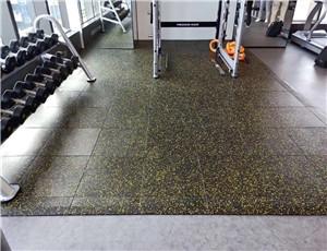 健身房力量专区橡胶地垫