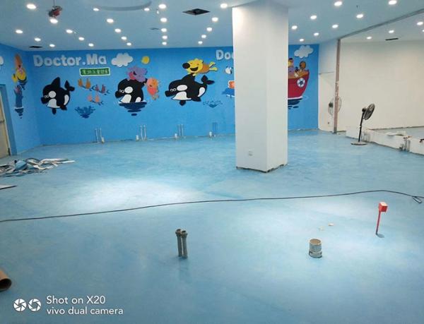 一片色儿童pvc地板
