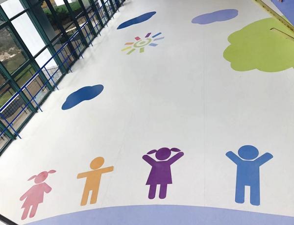 儿童福利院pvc地板