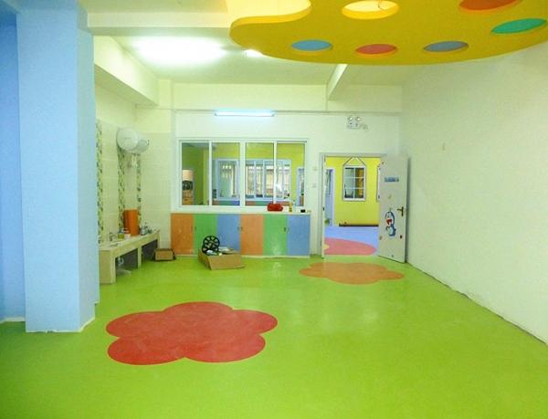 幼儿园pvc地板拼花