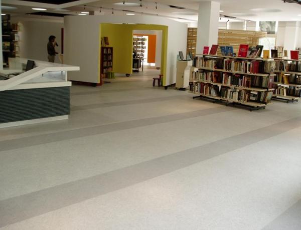 重庆图书馆静音防滑塑胶地板